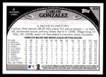 2009 Topps #503  Carlos Gonzalez  Back Thumbnail