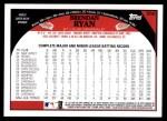 2009 Topps #556  Brendan Ryan  Back Thumbnail