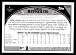 2009 Topps #568  Greg Reynolds  Back Thumbnail