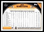 2009 Topps #553  Jeff Karstens  Back Thumbnail