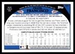 2009 Topps #531  Frank Francisco  Back Thumbnail