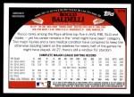 2009 Topps #579  Rocco Baldelli  Back Thumbnail