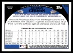 2009 Topps #559  Esteban German  Back Thumbnail