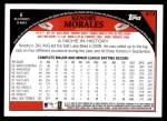2009 Topps #613  Kendry Morales  Back Thumbnail