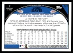 2009 Topps #634  Chris Davis  Back Thumbnail