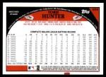 2009 Topps #659  Torii Hunter  Back Thumbnail