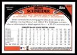 2009 Topps #654  Brian Schneider  Back Thumbnail