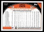2009 Topps #604  Gregg Zaun  Back Thumbnail