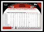 2009 Topps #652  Doug Davis  Back Thumbnail
