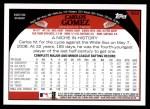 2009 Topps #602  Carlos Gomez  Back Thumbnail