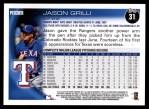 2010 Topps #31  Jason Grilli  Back Thumbnail