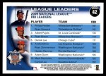 2010 Topps #42   -  Prince Fielder / Ryan Howard / Albert Pujols NL RBI Leaders Back Thumbnail