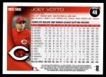 2010 Topps #48  Joey Votto  Back Thumbnail