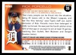 2010 Topps #35  Rick Porcello  Back Thumbnail