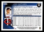2010 Topps #93  Joe Nathan  Back Thumbnail