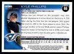 2010 Topps #66  Kyle Phillips  Back Thumbnail