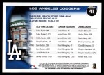 2010 Topps #41   Dodgers History Back Thumbnail