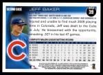 2010 Topps #39  Jeff Baker  Back Thumbnail