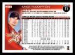 2010 Topps #71  Mike Hampton  Back Thumbnail