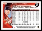 2010 Topps #71  Mike Hampton  Back Thumbnail