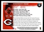 2010 Topps #32   Reds Team Back Thumbnail