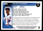 2010 Topps #5   Rangers Team Back Thumbnail