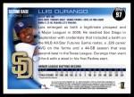 2010 Topps #97  Luis Durango  Back Thumbnail
