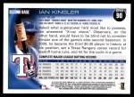 2010 Topps #90  Ian Kinsler  Back Thumbnail