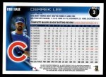 2010 Topps #3  Derrek Lee  Back Thumbnail