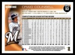 2010 Topps #53  Craig Counsell  Back Thumbnail