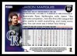 2010 Topps #82  Jason Marquis  Back Thumbnail
