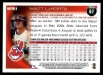2010 Topps #67  Matt LaPorta  Back Thumbnail