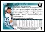 2010 Topps #91  Erik Bedard  Back Thumbnail