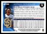 2010 Topps #75  Adrian Gonzalez  Back Thumbnail