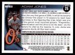 2010 Topps #25  Adam Jones  Back Thumbnail