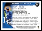 2010 Topps #69   Royals Team Back Thumbnail