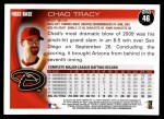 2010 Topps #46  Chad Tracy  Back Thumbnail