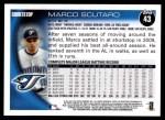 2010 Topps #43  Marco Scutaro  Back Thumbnail