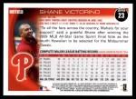 2010 Topps #23  Shane Victorino  Back Thumbnail