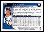 2010 Topps #86  Gil Meche  Back Thumbnail