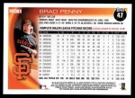 2010 Topps #47  Brad Penny  Back Thumbnail