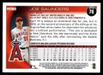 2010 Topps #76  Joe Saunders  Back Thumbnail