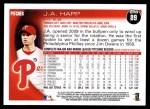 2010 Topps #89  J.A. Happ  Back Thumbnail