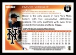 2010 Topps #60  David Wright  Back Thumbnail