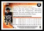 2010 Topps #60  David Wright  Back Thumbnail