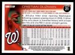 2010 Topps #21  Cristian Guzman  Back Thumbnail