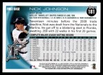 2010 Topps #181  Nick Johnson  Back Thumbnail