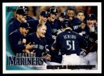 2010 Topps #199   Mariners Team Front Thumbnail