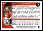 2010 Topps #136  Adam Wainwright  Back Thumbnail