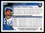 2010 Topps #182  Coco Crisp  Back Thumbnail